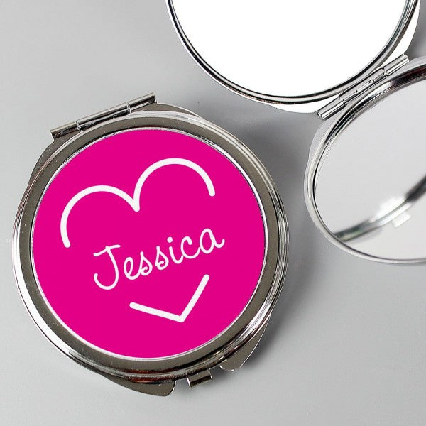 Personalised Love Island Compact Mirror