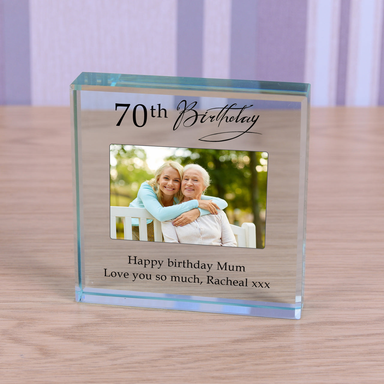 Personalised Birthday Photo Glass Token Keepsake