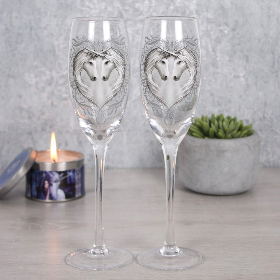 Unicorn Champagne Glasses