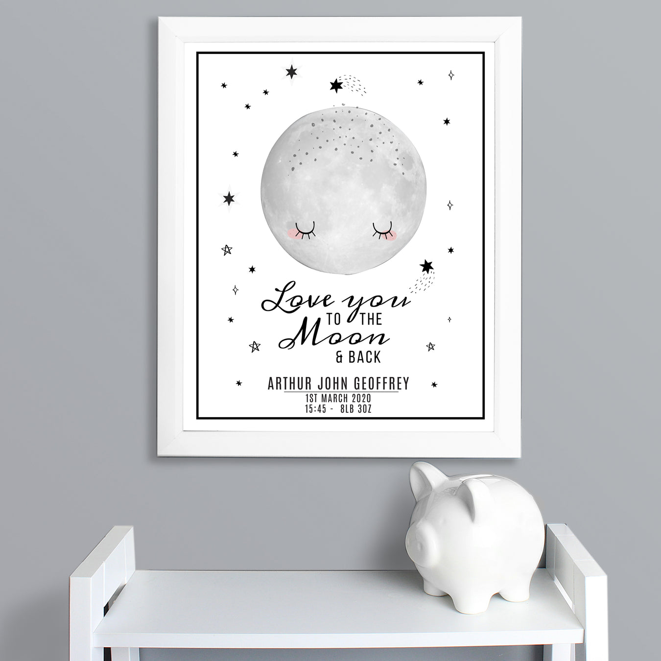 Personalised Baby Framed Print