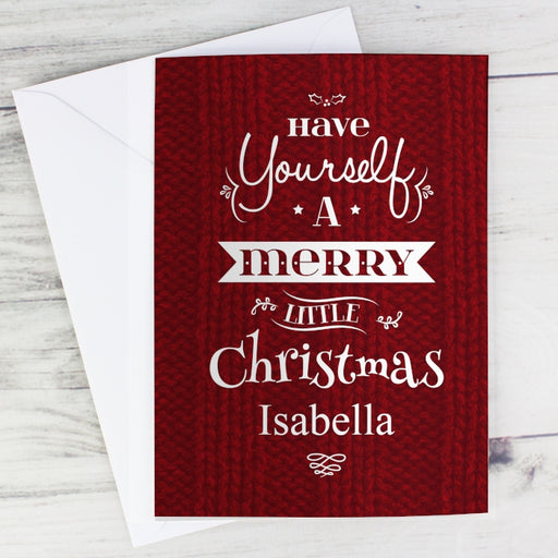 Personalised Have Yourself A Merry Little Christmas Card from Pukkagifts.uk