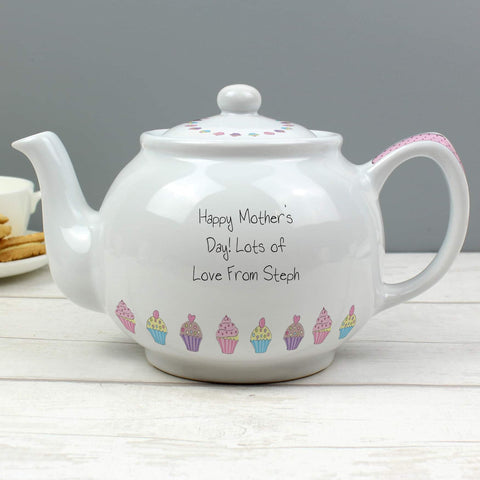 Personalised Cupcake Teapot from Pukkagifts.uk