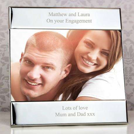 Any Message Silver Square 6x4 Personalised Photo Frame from Pukkagifts.uk