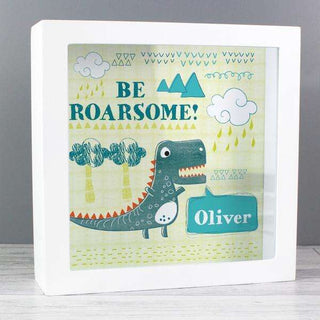 Personalised Dinosaur Money Fund and Keepsake Box from Pukkagifts.uk