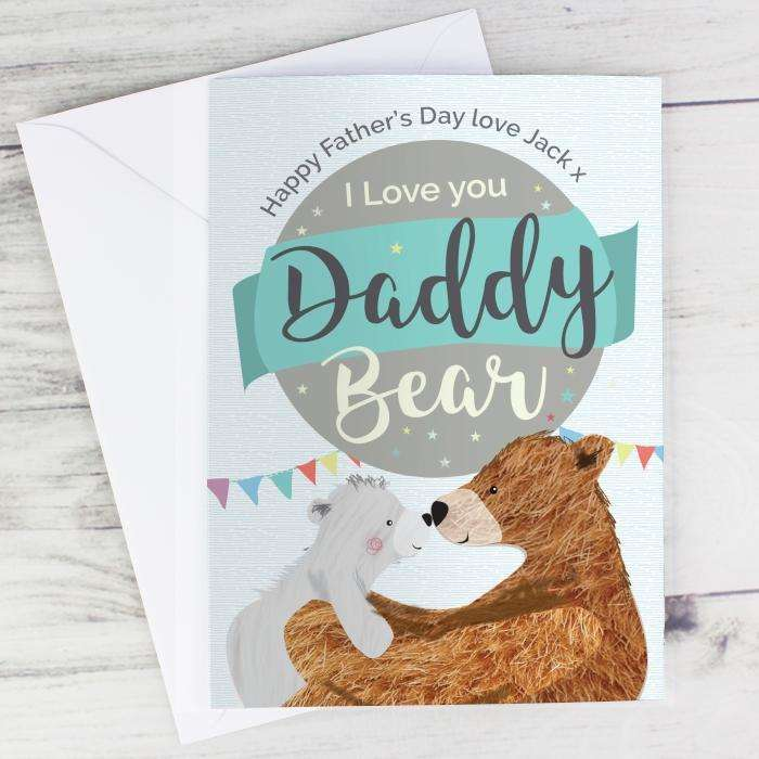 Personalised Daddy Bear Card from Pukkagifts.uk