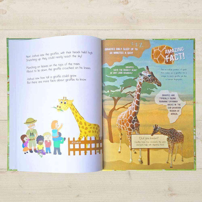 Personalised Your Day at the Zoo Book from Pukkagifts.uk