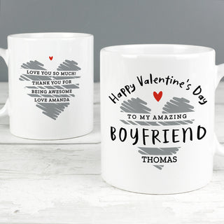Personalised Happy Valentine's Day Mug