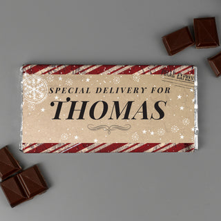 Personalised Special Delivery Milk Chocolate Bar - Free UK Delivery