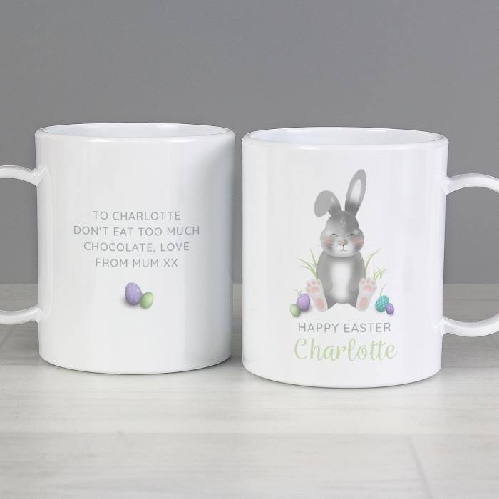 Personalised Easter Bunny Plastic Mug from Pukkagifts.uk