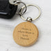 Personalised Wooden Round Keyring