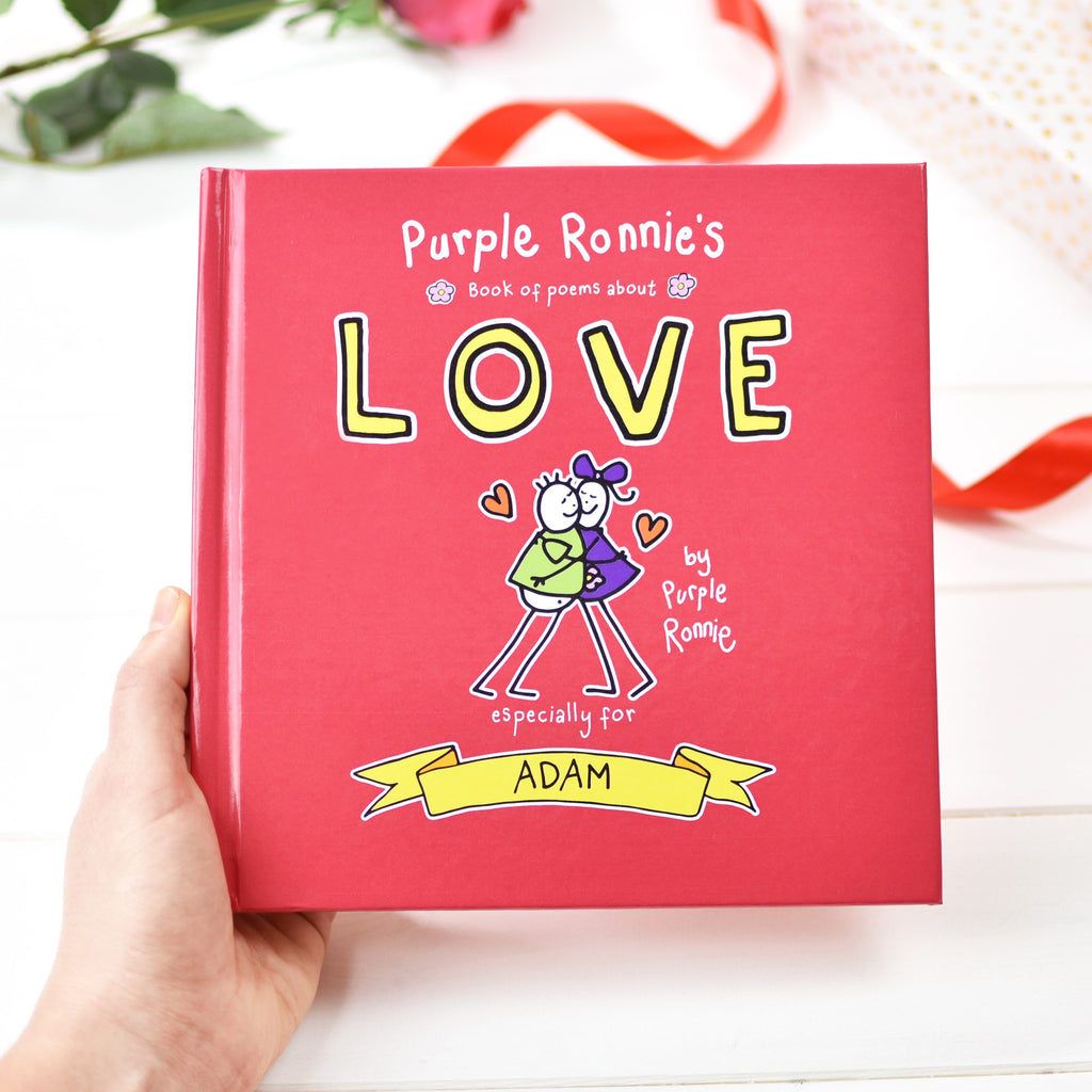 Personalised Purple Ronnie's Book of Poems About Love from Pukkagifts.uk