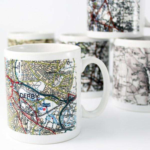 Personalised Present Day Map Mug from Pukkagifts.uk