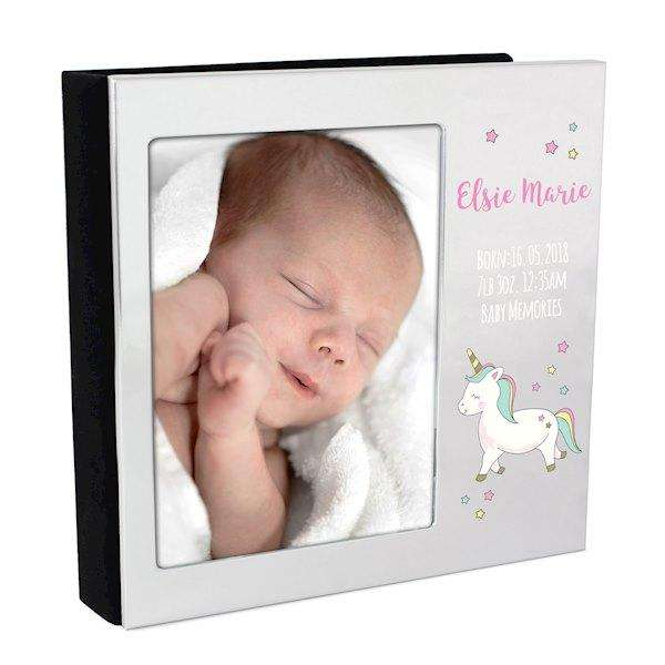 Personalised Baby Unicorn Frame Photo Album 4x6 from Pukkagifts.uk