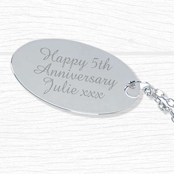 Personalised Silver Plated Rose Engraved from Pukkagifts.uk