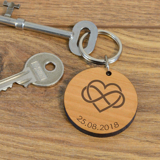 Personalised Infinity Wooden Keyring from Pukkagifts.uk