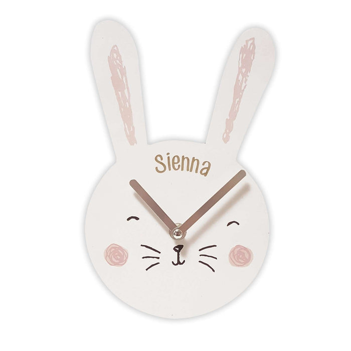 Personalised Bunny Clock from Pukkagifts.uk