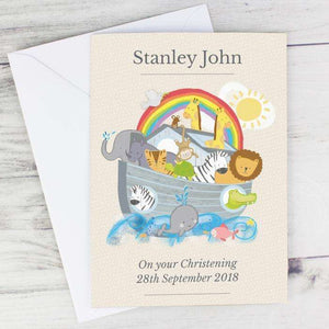 Personalised Noah's Ark Card,Pukka Gifts