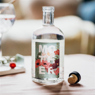 Personalised Mother Floral Gin Bottle