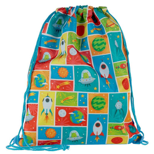 Retro Space Drawstring Bag