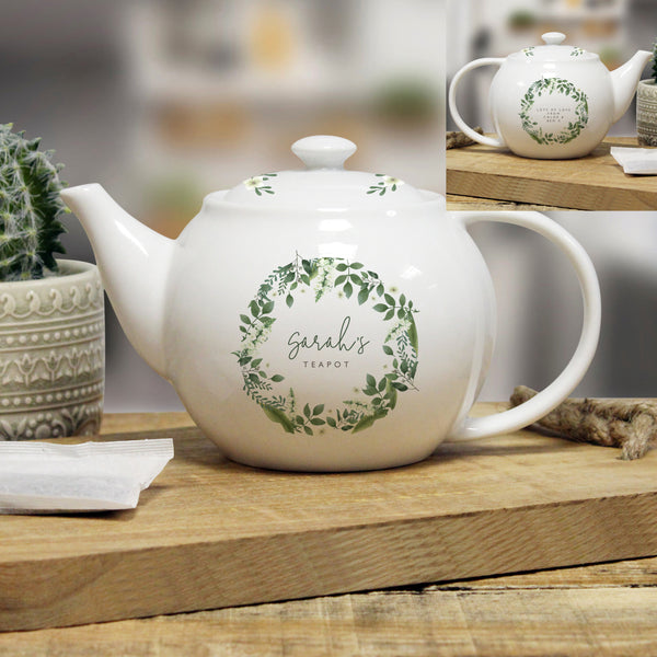Personalised Floral Teapot