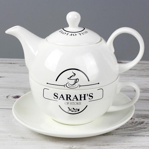 Personalised Full of Love Tea for One from Pukkagifts.uk