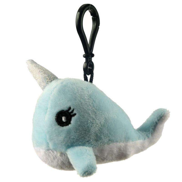 Plush Kawaii Narwhal Sound Keyring from Pukkagifts.uk