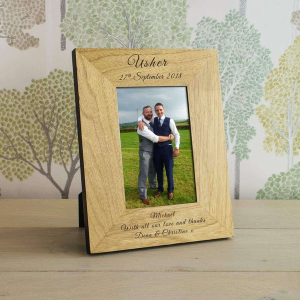 Personalised Usher Photo Frame from Pukkagifts.uk