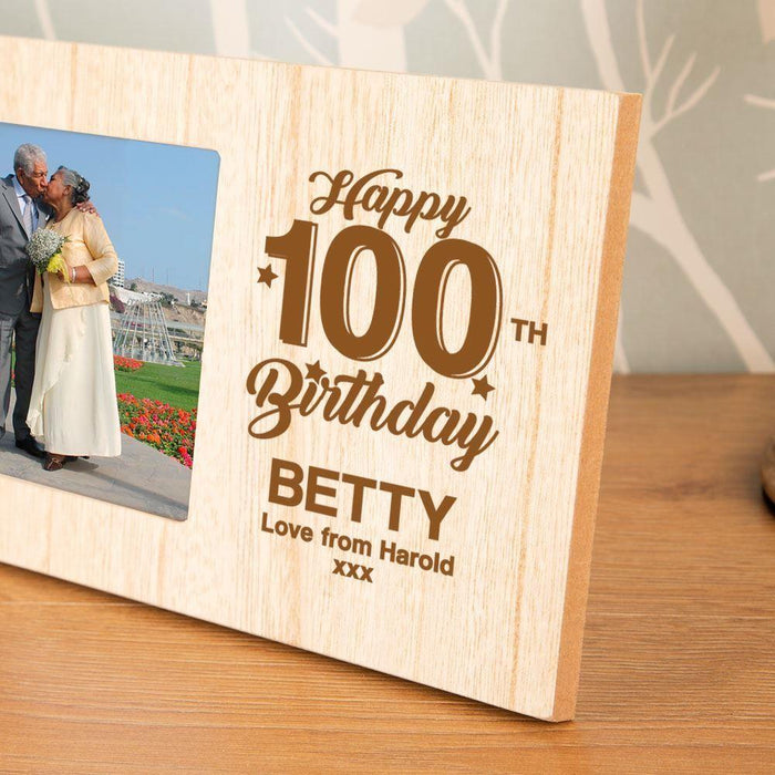 Personalised 100th Birthday Photo Frame