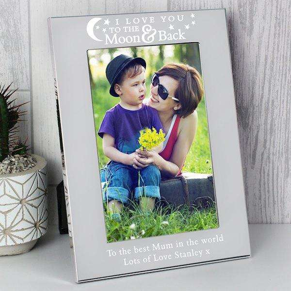 Personalised I Love You To The Moon And Back Photo Frame 4x6 from Pukkagifts.uk
