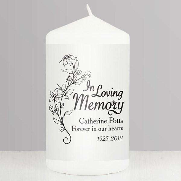 Personalised In Loving Memory Candle from Pukkagifts.uk