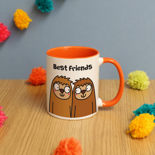 Personalised Best Friends Sloth Mug