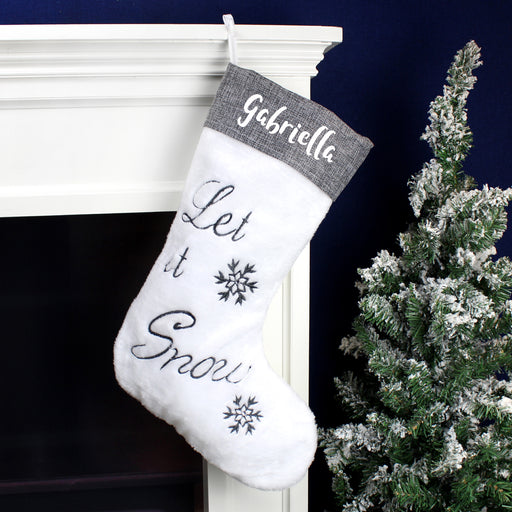 Personalised Let It Snow Christmas Stocking