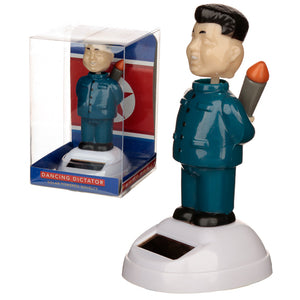 Solar Powered Dancing Dictator Rocket Man Toy