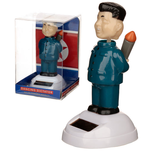 Solar Powered Dancing Dictator Rocket Man Toy from Pukkagifts.uk