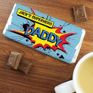 Personalised Comic Book Chocolate Bar Free Delivery from Pukkagifts.uk
