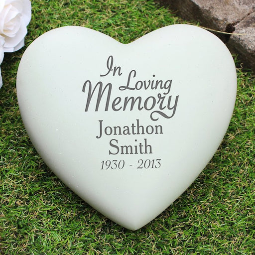 Personalised In Loving Memory Heart Memorial from Pukkagifts.uk