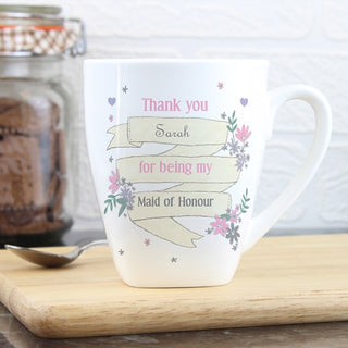 Personalised Garden Bloom Latte Mug from Pukkagifts.uk