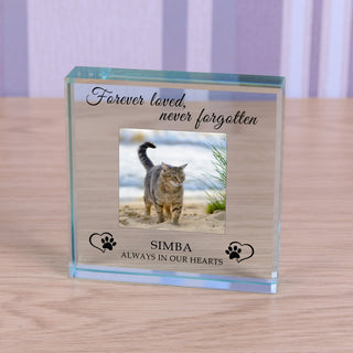 Personalised Cat Memorial Glass Token - Always In My Hearts