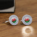 Personalised Welsh Wales Flag Cufflinks