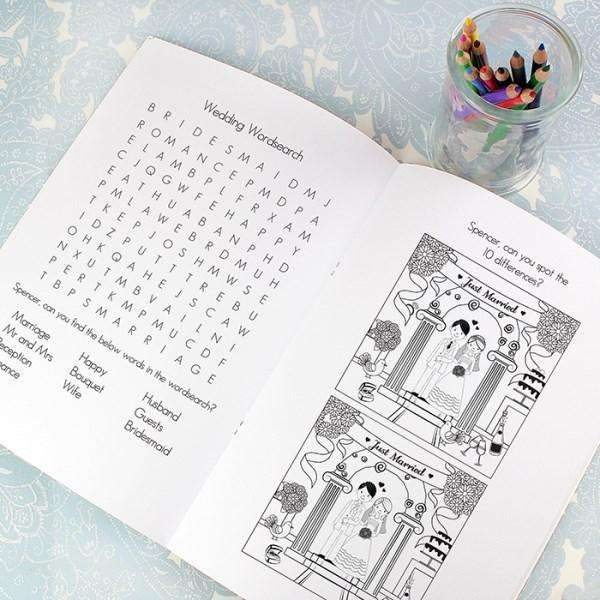 Personalised Wedding Activity Book for Boys from Pukkagifts.uk