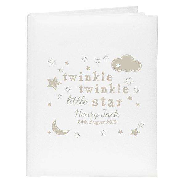 Personalised Twinkle Twinkle Little Star Album with Sleeves from Pukkagifts.uk