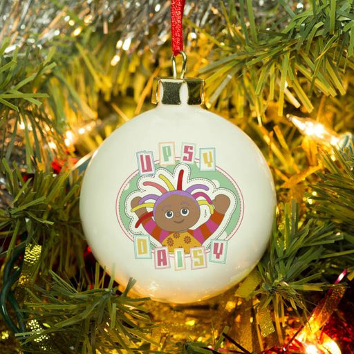 Personalised In The Night Garden Pastel Upsy Daisy Christmas Bauble