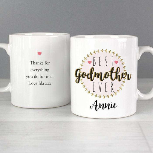 Personalised 'Best Godmother' Mug from Pukkagifts.uk