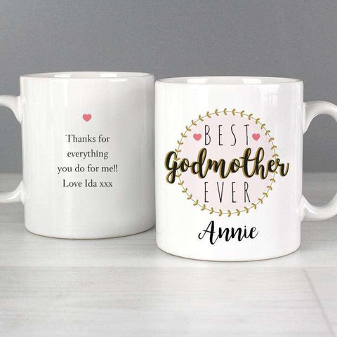 Personalised 'Best Godmother' Mug,Pukka Gifts