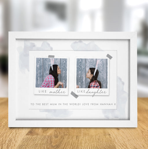 Personalised Like Mother Like Daughter Polaroid A4 Framed Print