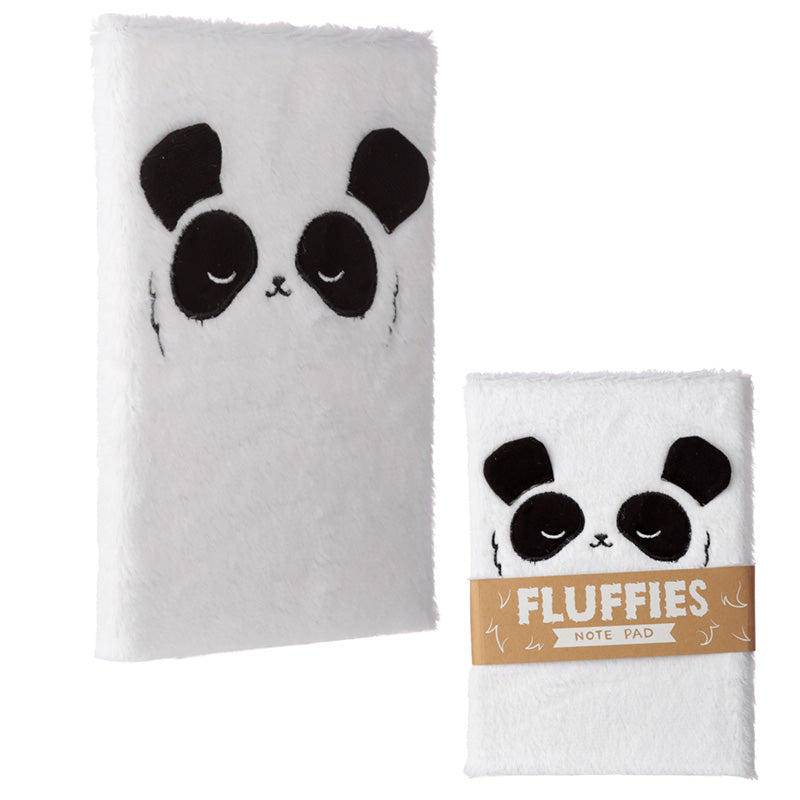 Fluffy Plush Panda Design Notebook