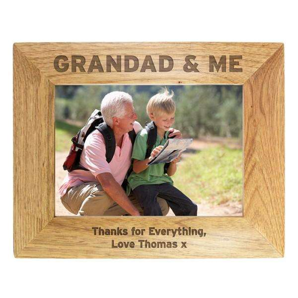 Personalised Grandad & Me 7x5 Photo Frame from Pukkagifts.uk