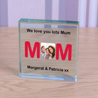 Personalised Photo Glass Token - MUM