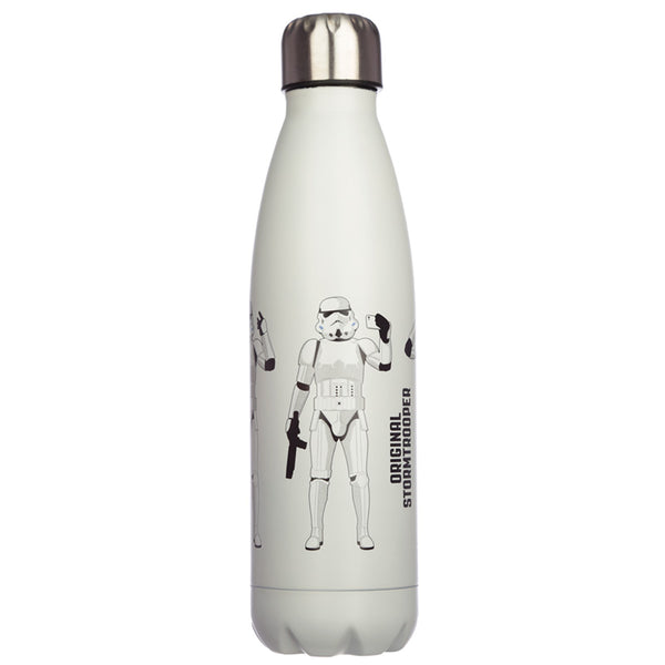 The Original Stormtrooper Reusable Stainless Steel Hot & Cold Thermal Insulated Drinks Bottle 500ml - White
