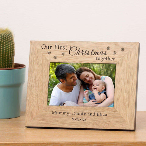 Personalised Our First Christmas Together Photo Frame 6x4 from Pukkagifts.uk